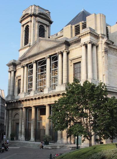 La façade de l'église Saint-Eustache