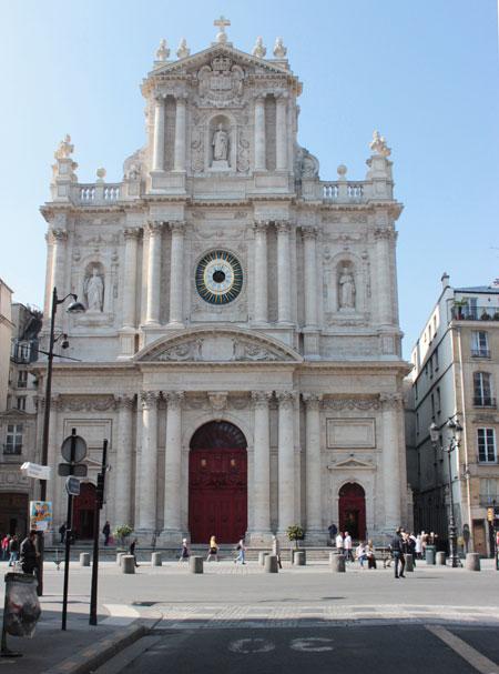 L'église Saint-Paul-Saint-Louis : la façade sur rue