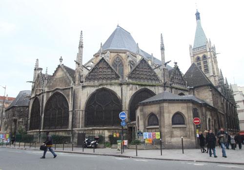 L'église Saint-Séverin - Le chevet et les chapelles rayonnantes