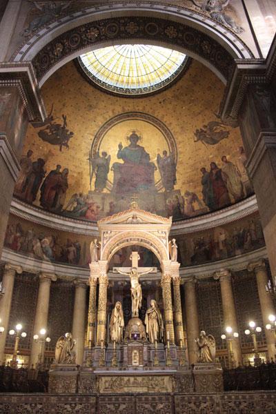 L'église Saint-Vincent de Paul - La coupole du chœur