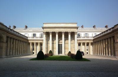 L'hôtel de Salm - La façade sur cour exprimant le goût pour l'antique