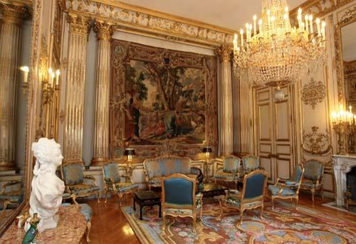 Le palais de l'Elysée - La salon Pompadour
