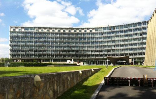 Le siège de l'Unesco - Façade sur l'avenue de Suffren