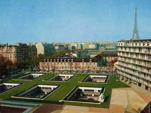 Le siège de l'Unesco - Les six patios enterrés