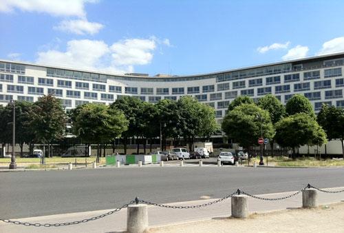 Le siège de l'Unesco - Façade sur la place de Fontenoy