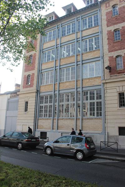 Usine de la Compagnie Parisienne de l'air comprimé - Détail de la façade