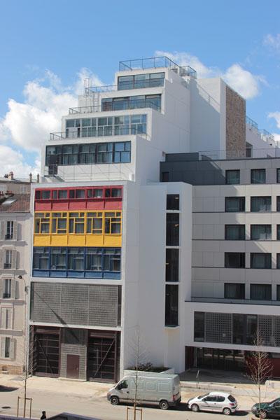 La Cité-refuge de l'Armée du Salut - La façade sur la rue du Chevaleret