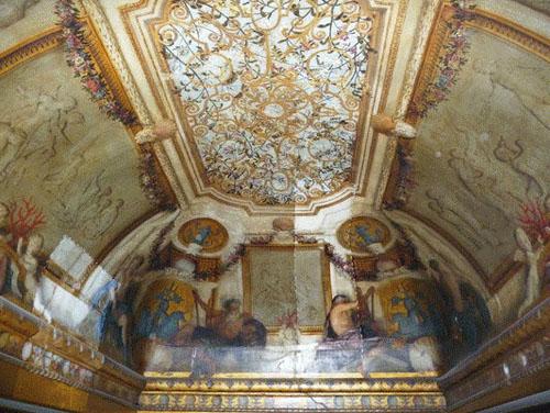 Le cabinet des bains - Le plafond (disparu dans un incendie)