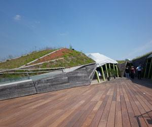 La Cité de la Mode et du Design - Le toit végétalisé