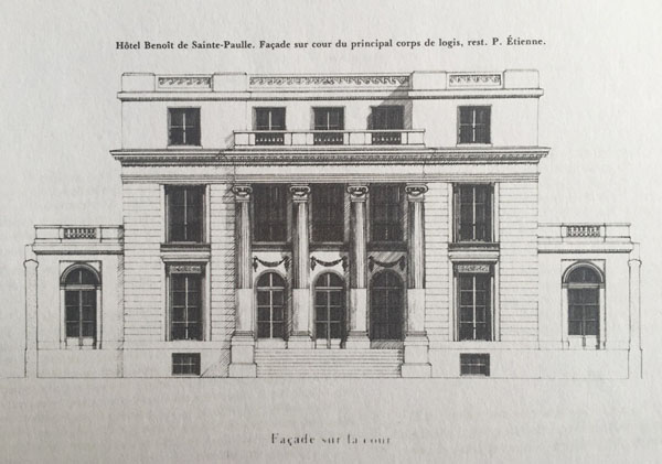 Hôtel Benoist de Saint-Paulle, la façade sur cour
