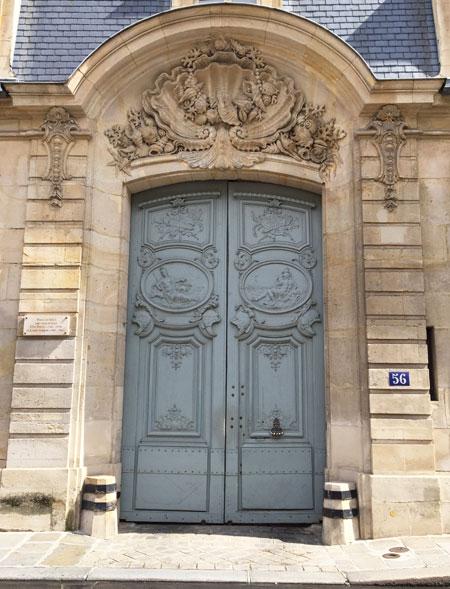 L'Hôtel Gouffier de Thoix - Le portail Rocaille