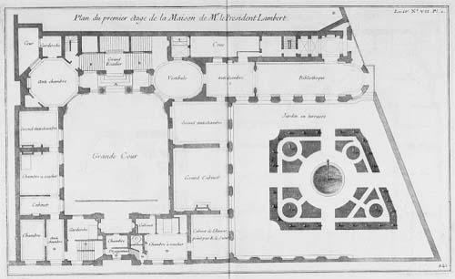 L'Hôtel Lambert - Plan du 1er étage