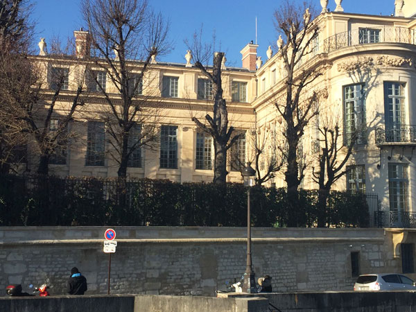 L'Hôtel Lambert : la façade sur le jardin