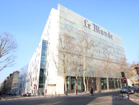 Le siège du journal Le Monde