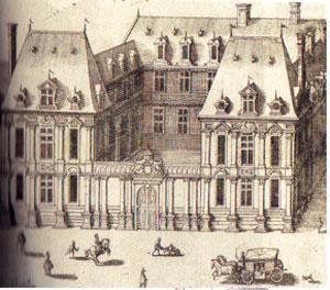 gravure de l'hôtel de Mayenne, état d'origine