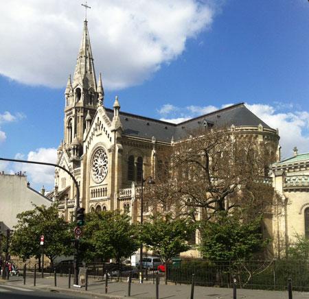 L'église Notre-Dame de la Croix de Ménilmontant