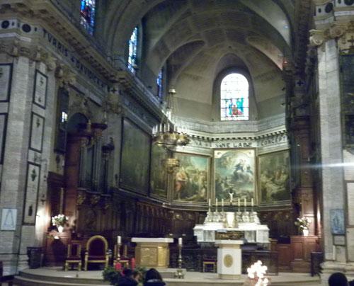 L'église Notre-Dame des Victoires - Le chœur