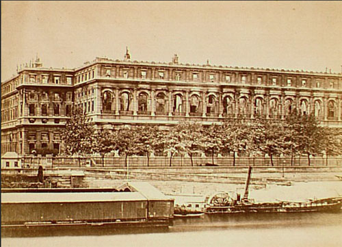 Le palais d'Orsay : il sera incendié au moment de la Commune de Paris