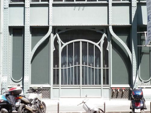 Immeuble industriel, rue Réaumur - La porte d'entrée