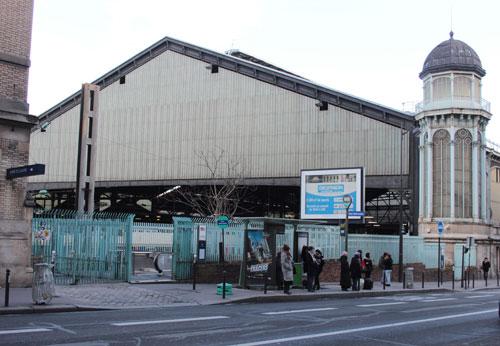 La gare Saint-Lazare - L'une des halles métalliques