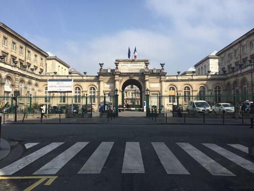 L'hôpital Lariboisière - L'entrée