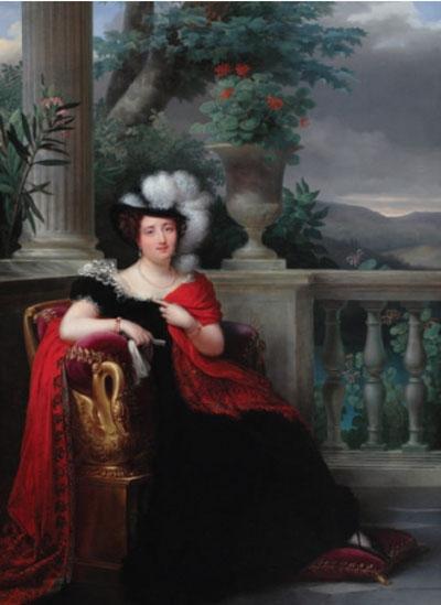 Portrait de la comtesse de Lariboisière, XIXe siècle, F.J. Kinson