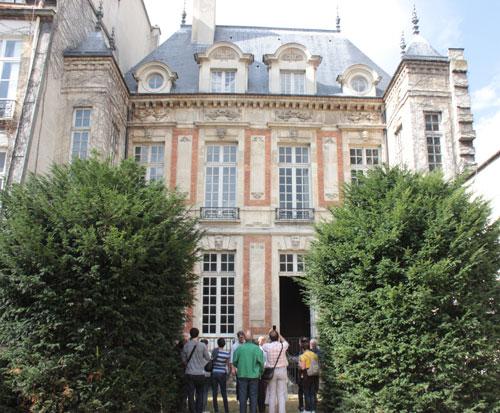 L'hôtel de Châlons-Luxembourg - Façade sur jardin