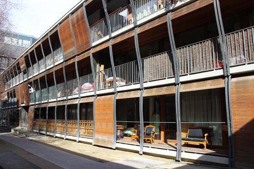 Logements sociaux rue des Suisses : le 2e bâtiment dans la cour