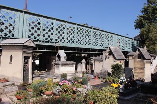 Le cimetière Montmartre - Le pont Caulaincourt