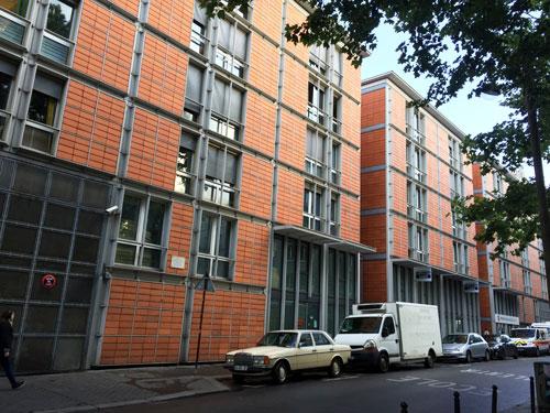 Logements Rue de Meaux : la façade donnant sur la rue de Meaux