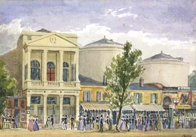 Le théâtre des Variétés et l'entrée du passage des Panoramas
