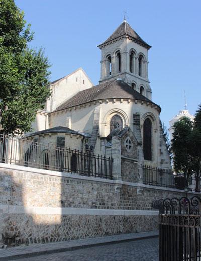 L'abbaye Saint-Pierre de Montmartre - L'abside et le clocher