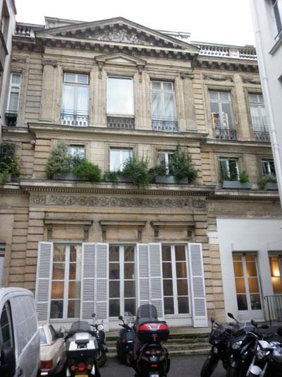 L'hôtel Titon - Façade sur jardin, cité Paradis