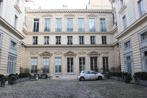 L'hôtel Titon - Façade sur cour
