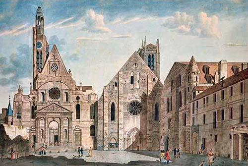 L'église Saint-Etienne du Mont (à gauche) et l'église Sainte-Geneviève (à droite)