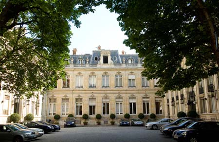 L'hôtel de Beauvau - Façade sur cour