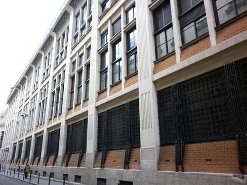 Le central téléphonique Bergère - Façade rue Bergère