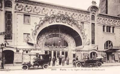 La Cigale - Façade dans les années 1900