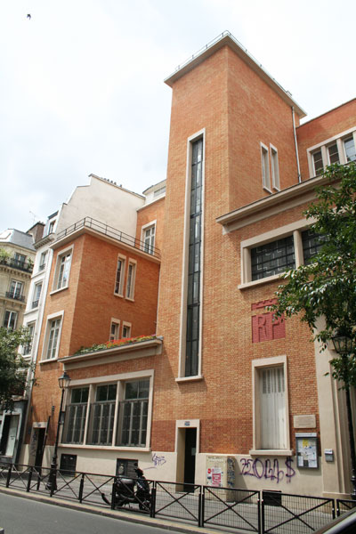 Ecole et bibliothèque, rue Saint-Martin