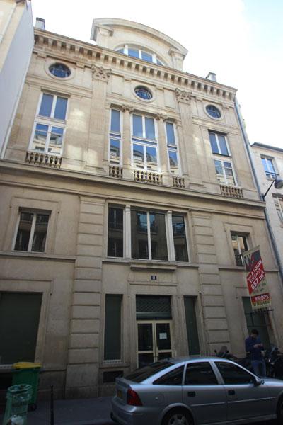 L'entrée de la salle Erard rue Paul Lelong