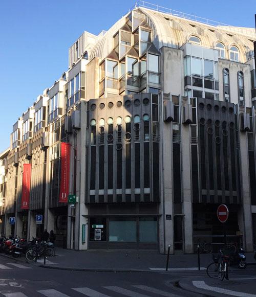 L'hôtel Drouot - Façade sur la rue Chauchat
