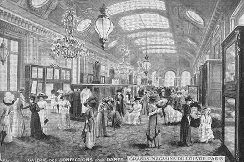 Les Grands Magasins du Louvre – Galerie des confections pour dames