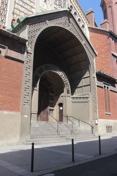 L'église Saint-Christophe de Javel - Le portail