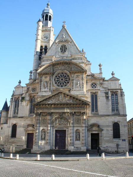 L'église Saint-Etienne du Mont - La façade Renaissance