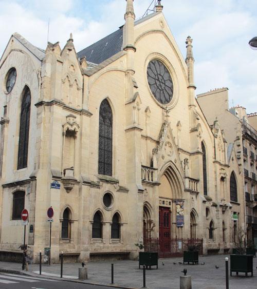 L'église Saint-Eugène-Sainte-Cécile - La façade