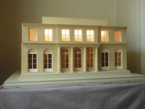 L'hôtel de la Chancellerie d'Orléans - Reconstitution de la façade sur jardin (maquette)
