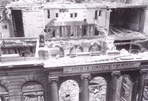 L'hôtel de la Chancellerie d'Orléans en pleine démolition (1923)