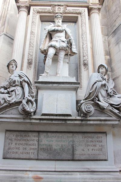 La statue de Gaspard de Coligny
