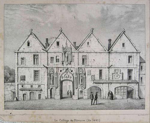 Le collège de Navarre au Moyen-Age - L'entrée