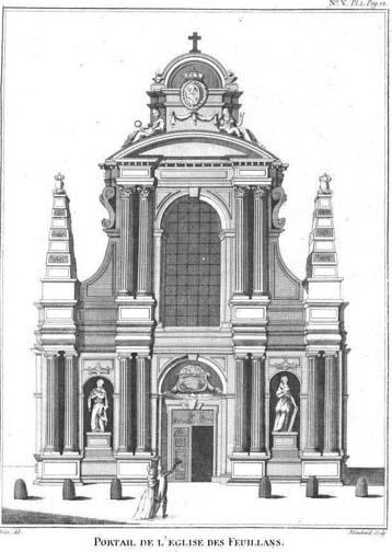 Le couvent des Feuillants - La façade de l'église